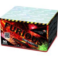 Батарея салютов FURIOUS MC135 на 90 выстрелов разных эффектов