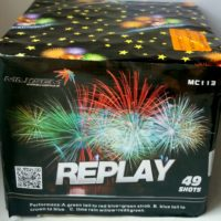 Батарея салютов Replay MC-113 разноцветные пионы