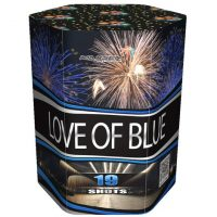 Батарея салютов LOVE OF BLUE
