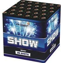 батарея салютов SHOW mc 107 красивый искрящийся салют